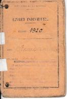 Classe 1920 - LIVRET MILITAIRE INDIVIDUEL - A Participé à La Résistance - - Documentos Históricos