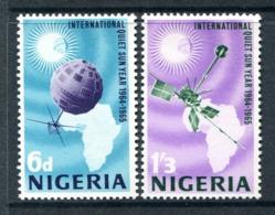 Nigeria 1965 International Quiet Sun Years Set MNH (SG 161-162) - Nigeria (1961-...)