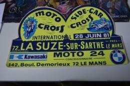 Rare Autocollant Moto Cross La Suze 1981 - Aufkleber