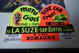 Rare Autocollant Moto Cross La Suze 1991 - Aufkleber