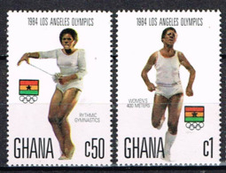 """GHANA 1984 , 2 Stamps """" Women At LA Olympics """"  Postfr. / MNH / Neuf - Sommer 1984: Los Angeles"""