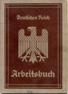 """(Kart-ZD) DEUTSCHES REICH """"Arbeitsbuch"""" Ausgestellt: Arbeitsamt Görlitz 21.Nov.1935 Mit Einträgen Bis 5.5.1945 - Documents Historiques"""