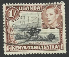 Kenya, Uganda, Tanganyika, 1 S. 1949, Sc # 80a, Used. - Kenya, Uganda & Tanganyika