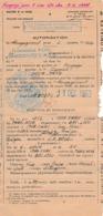 1953 - INDOCHINE - RECRUTEMENT INDIGÈNE - Autorisation De Rengagement Pour 3 Ans - Documents Historiques