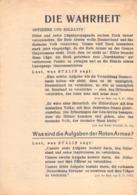 "WWII WW2 Flugblatt Tract Leaflet Листовка Soviet Propaganda Against Germany ""DIE WAHRHEIT"" - 1939-45"