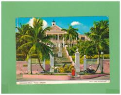 1979 BAHAMAS NASSAU AIR MAIL POSTCARD WITH 1 STAMP TO ITALY - Bahama's (1973-...)