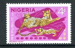 Nigeria 1965-66 Wildlife - No Imprint - 4d Leopard - P.14 X 13½ - LHM (SG 177a) - Nigeria (1961-...)
