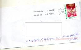 Lettre Flamme Chiffree Sous Code Sur Timbre à Moi Lido - Francia