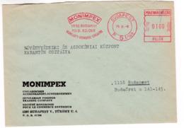 K178 Hungary Red Meter Freistempel EMA 1976 BUDAPEST 5 MONIMPEX Société Hongroise Pour Le Commerce Extérieur - Vignette Di Affrancatura (ATM/Frama)