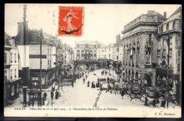 ARRAS 62 - Fêtes Des 22 Et 23 Mai 1904 - Décoration De La Place Du Théatre - A691 - Arras