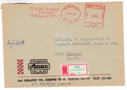 K181 Hungary Red Meter Freistempel EMA 1975 BUDAPEST 72 Compagnie De Taxi De Voiture Métropolitaine MetropolitanTaxi - Vignette Di Affrancatura (ATM/Frama)