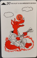 Telefonkarte Ukraine - Kiew - Zeichnung - Wolf - Musik  - K163 09/97 - Ukraine
