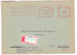 K182 Hungary Red Meter Freistempel EMA 1973 BUDAPEST 62 Tool And Small Machine Sales Company - Vignette Di Affrancatura (ATM/Frama)