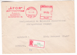 K183 Hungary Red Meter Freistempel EMA 1976 BUDAPEST 9 ÁFOR Mineral Oil Trading Company Huile Minérale - Vignette Di Affrancatura (ATM/Frama)