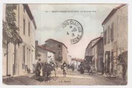 CPA LOIRE.SAINT ANDRE-D,APCHON.LA GRANDE RUE - Francia