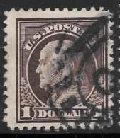 Michel 240PCb - 1 $ Brun-violet Dentelé 11 - O - United States