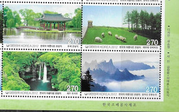 SOUTH KOREA, 2012, MNH, TOURIST DESTINATIONS, WATERFALLS, MOUNTAINS, SHEEP, SCENERY,4v - Geology