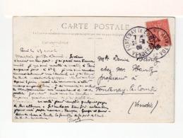 Sur CPA De Paris Pour Fontenay Le Comte CAD Paris 87 Bd Voltaire Et CAD Fontenay Le Comte Vendée 1906. (3380) - 1877-1920: Periodo Semi Moderno