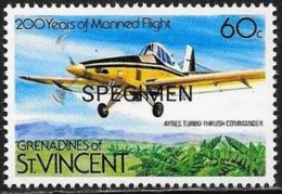Grenadine: Specimen, Ayres Thrush, Aereo Agricolo, Agricultural Plane, Avion Agricole - Agricoltura