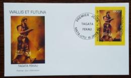 WALLIS ET FUTUNA - FDC 1999 - YT Aérien N°208 - TAGATA FEKAU / Porteur De Kava - FDC