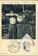 48915 Monaco, Maximum 1964  Olympiade Of Tokyo,  Tir A L'arc  Archery - Bogenschiessen