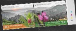 SOUTH KOREA, 2019, MNH, JOINT ISSUE WITH CROATIA, MOUNTAINS, FLOWERS, 2v - Gezamelijke Uitgaven