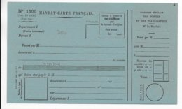 1890 - MODELE RARE De MANDAT CARTE FRANCAIS NEUF - Entiers Postaux