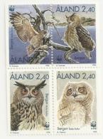 Aland 1996 Hiboux Owls Set Complete MNH ** - Aland