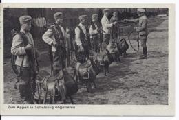 """DT- Reich (003147) Propagandakarte Wehrmacht """"Zum Appell In Sattelzeug Angetreten"""" Gelaufen Mit Feldpost Am 24.12.1940 - Allemagne"""