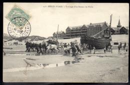 BERCK PLAGE 62 - Trainage D'un Bateau De Pêche - A696 - Berck
