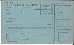 1880 - MODELE RARE De MANDAT CARTE FRANCAIS NEUF - Entiers Postaux