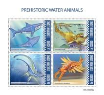 SIERRA LEONE 2019 - Water Prehistorics: Sea Scorpions, Anomalocaris. Official Issue - Spiele
