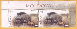 2018 Moldova Moldavie Nature, Nature Reserve. Forest. Animals. Boar.  Mint - Stamps