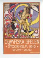422097 SWEDEN 1996 Year Olympic Games Nude Man Postal Stationery Postal Postcard - Cycling