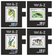 SIERRA LEONE 2019 - Fauna On Stamps F, 4 S/S. Official Issue. - Errori Sui Francobolli