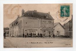 - CPA MONTJEAN (49) - Place Du Pont 1909 (CAFÉ DES VOYAGEURS ALLARD) - Edition Allard N° 8 - - Frankreich