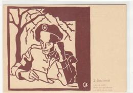 Z. Opalinski - Internierte Polnische Soldaten In Der Schweiz 1940 - Sign.         (A-129-160822) - Künstlerkarten