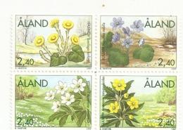 Aland 1997 Fleurs Flowers Set Complete MNH ** - Aland