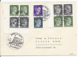 Dt.- Reich (003158) Beleg Mit ZD MNR S 270, S 272 Mit Sonderstempel Berlin 100 Jahre Postamt Am Gelaufen Am 1.6.1942 - Zusammendrucke