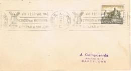 34544. Carta ALCAZAR De SAN JUAN (Ciudad Real) 1972. Festival Cancion Primavera. Musica - 1931-Hoy: 2ª República - ... Juan Carlos I