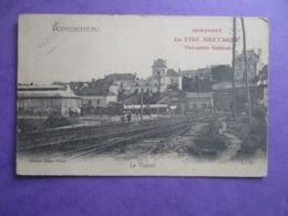 CPA 44 PONTCHATEAU LE TUNNEL CHEMIN DE FER RAILS - Pontchâteau