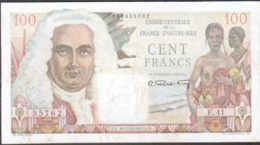 Caisse Centrale De La France D'Outremer, 100 Francs Bourdonnais, Serie E.41 - 1955-1959 Sovraccarichi In Nuovi Franchi
