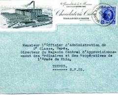 BOIS D'HAINE, Chocolaterie Cida / LSC De 1929 > Armée Du Rhin à Trêves TB - Poststempels/ Marcofilie