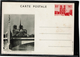 LCTN58/2 - FRANCE  CP VUES DE PARIS / STE GENEVIEVE NOIR N°1 - Postal Stamped Stationery