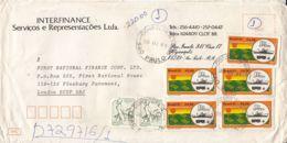 7436FM- FISHERMAN, FACTORY, TRANSPORTS, STAMPS ON REGISTERED COVER, 1981, BRAZIL - Brazilië
