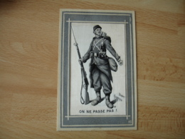 Guerre 14.18 Illustrateur Scott Poilu Sur Soie On Ne Passe Pas - War 1914-18