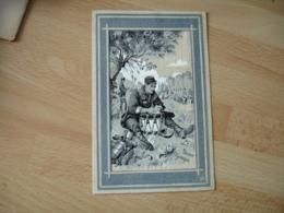 Guerre 14.18 Illustrateur Scott Poilu Sur Soie Ecriture Sur Tambour - War 1914-18