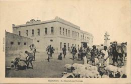 Pays Div- Ref U222- Djibouti - Le Marché Aux Bestiaux - Troupeau De Chevres - Chevre - Goats - Goat  - - Djibouti