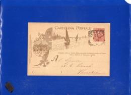 ##(DAN1911)-Italia 26-11-1898-Cartolina Commemorativa  1^ Esposizione Internazionale D'Arte-Venezia Usata Per Città - Stamped Stationery