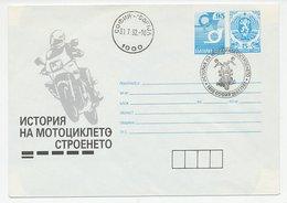 Postal Stationery Bulgaria 1992 History Of Motorcycles - Motos